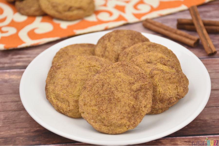easy recipe for pumpkin snickerdoodle cookies