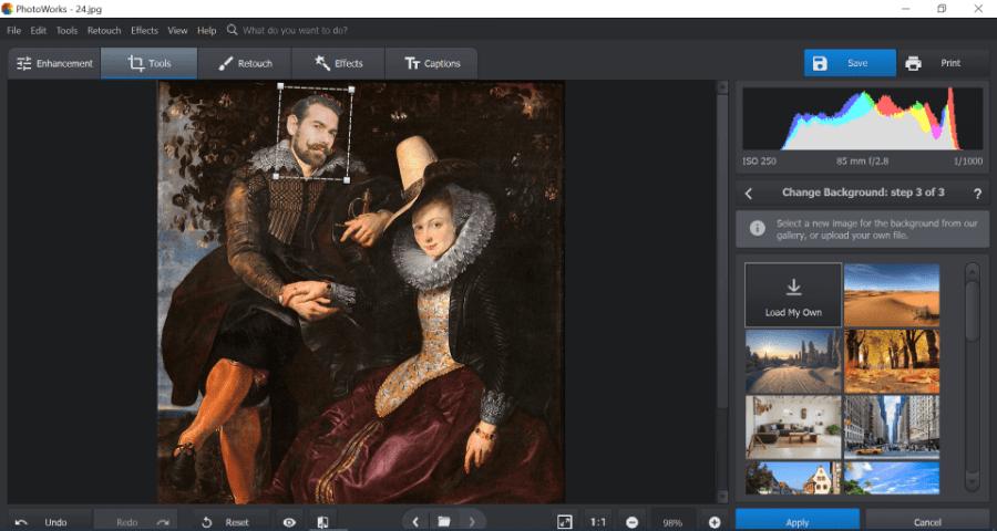 how to do a face swap using photoworks desktop