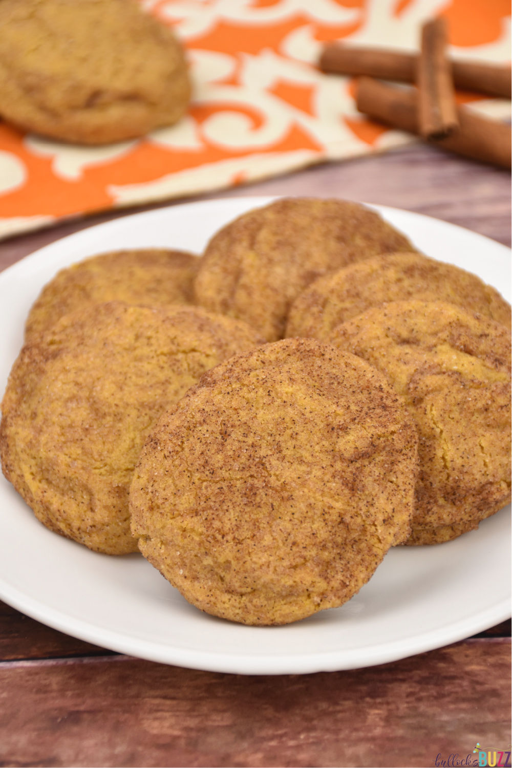 These Pumpkin Snickerdoodle Cookies are soft, chewy, and absolutely packed with delicious flavor! #recipe #snickerdoodles