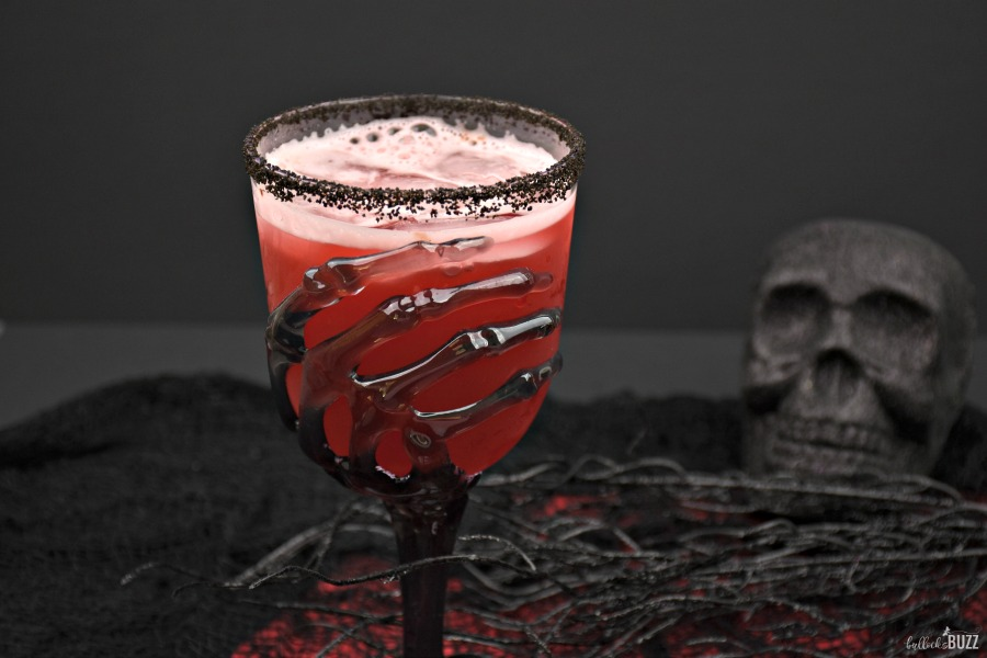 Vampire's Kiss boozy Halloween drink in glass