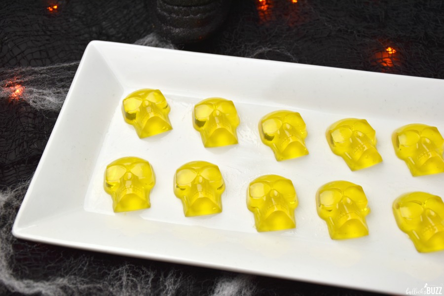 close up of candy skulls