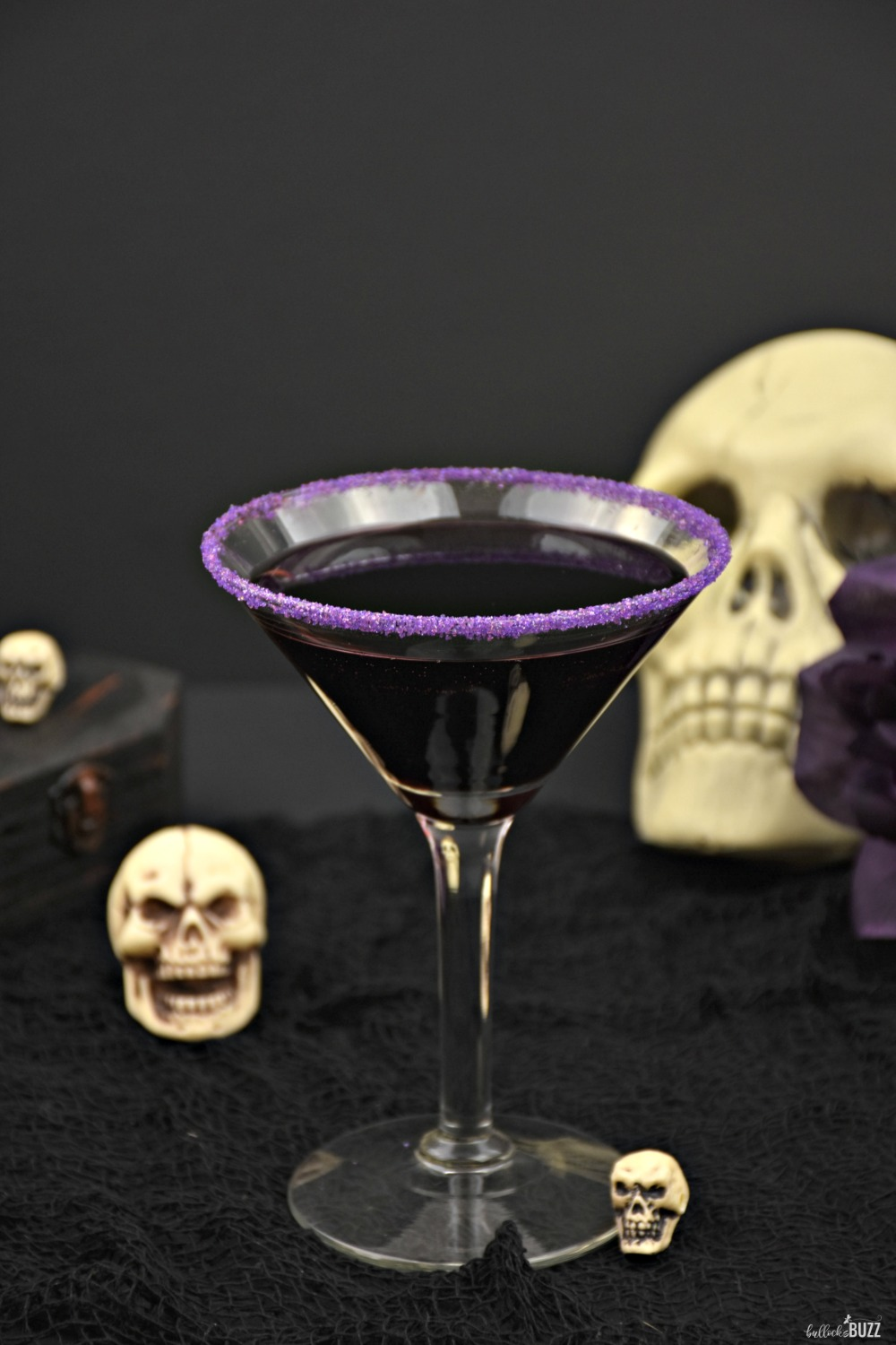 With its deadly delicious taste of cranberries and rum, and its deep purple color, this Gravedigger Halloween cocktail is to die for! Get the recipe on the Bullock's Buzz blog!