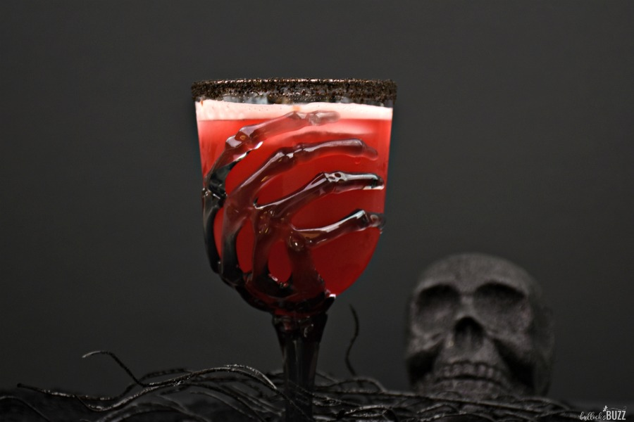 red Halloween cocktail recipe