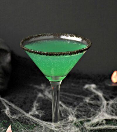 creepy Green Goblin Halloween Cocktail recipe