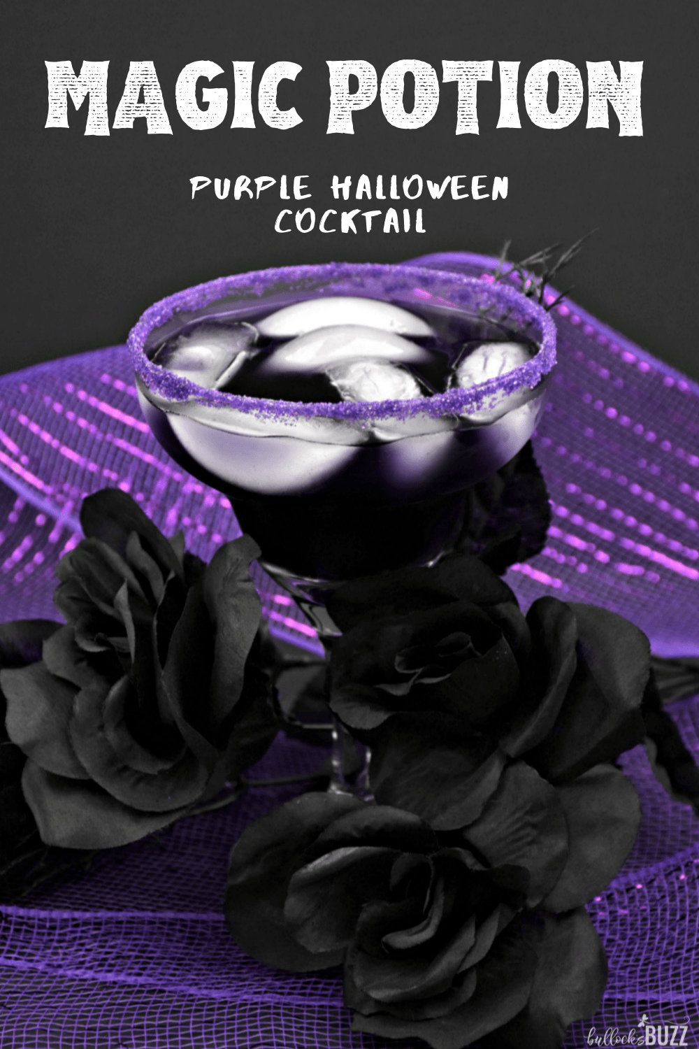 This purple Halloween cocktail has the most hauntingly beautiful deep purple hue, and a taste that's to die for! Made with vodka, blue curacao, sweet and sour mix, grenadine, and crangrape juice, the Magic Potion Halloween Cocktail is so yummy it's scary!