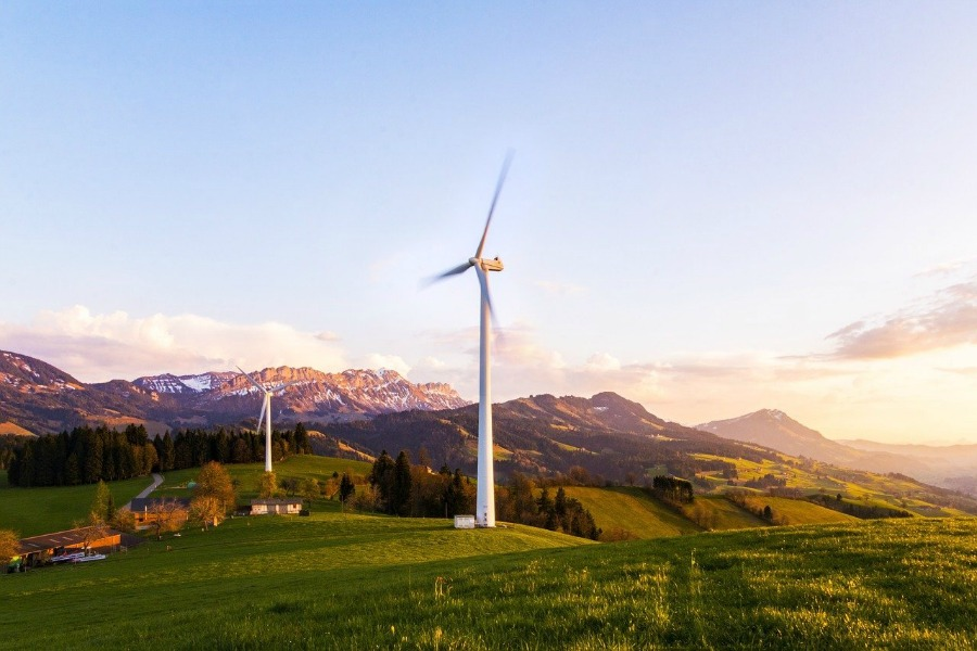 using a renewable energy source like these wind turbines are one way to make your home eco-friendly