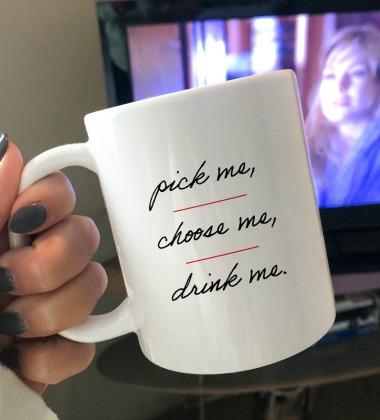 Pick Me Choose Me Drink Me Grey's Anatomy Mug from Dinkus ink