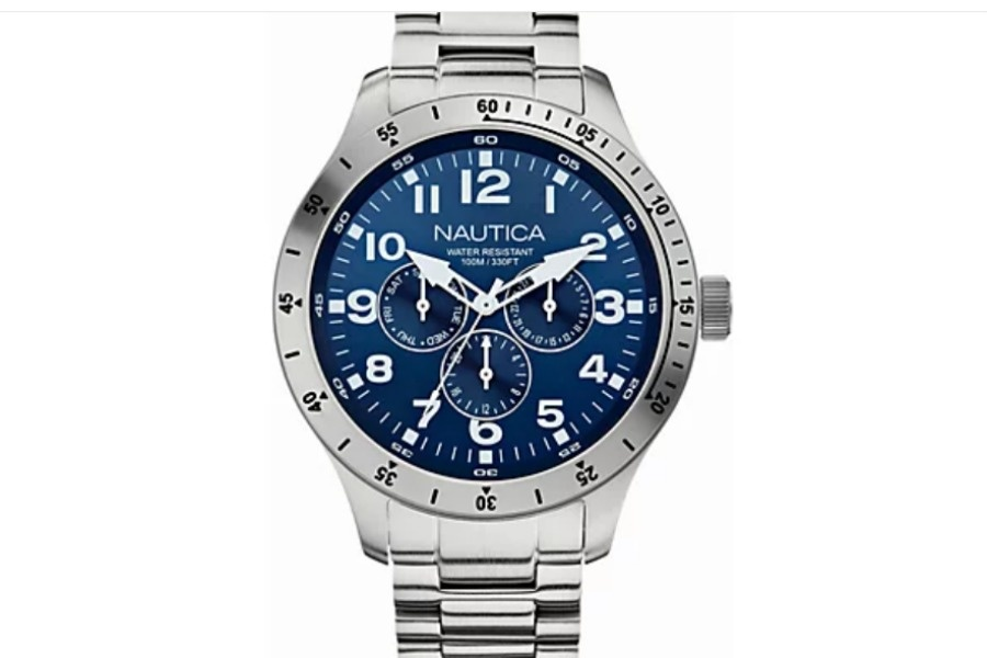 Nautica Men's Stainless Blue Dial ChronographWatch