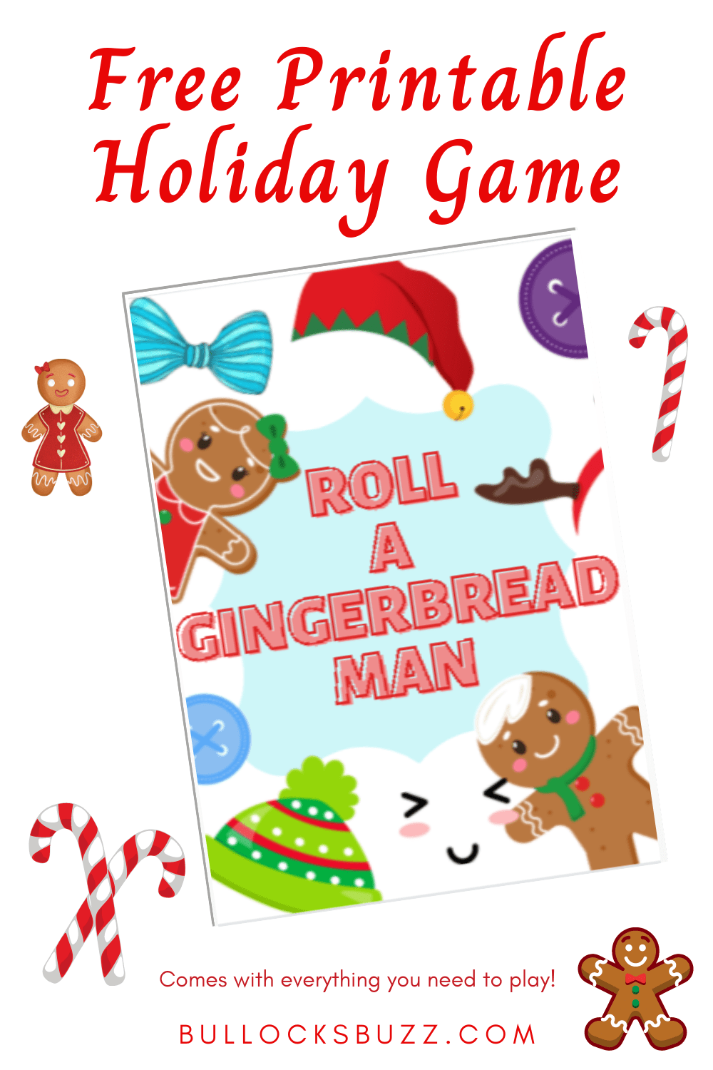 Spread the cheer and fun with this free printable Christmas game, Roll a Gingerbread Man/ This festive game is sure to put everyone in the holiday spirit while you wait for Santa to show up!