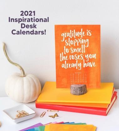 ispirational desk calendar by annie taylor designs