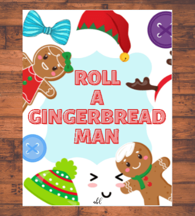 Spread the cheer and the fun with this free printable Christmas game, Roll a Gingerbread Man. This festive game is sure to put everyone in the holiday spirit while you wait for Santa to show up!