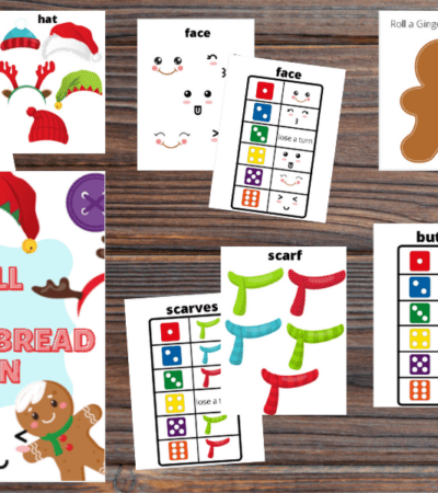 Roll A Gingerbread Man Printable Christmas Game