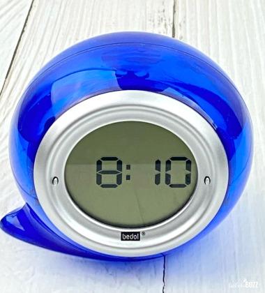 Bedol Squirt Water Powered Alarm Clock in blue