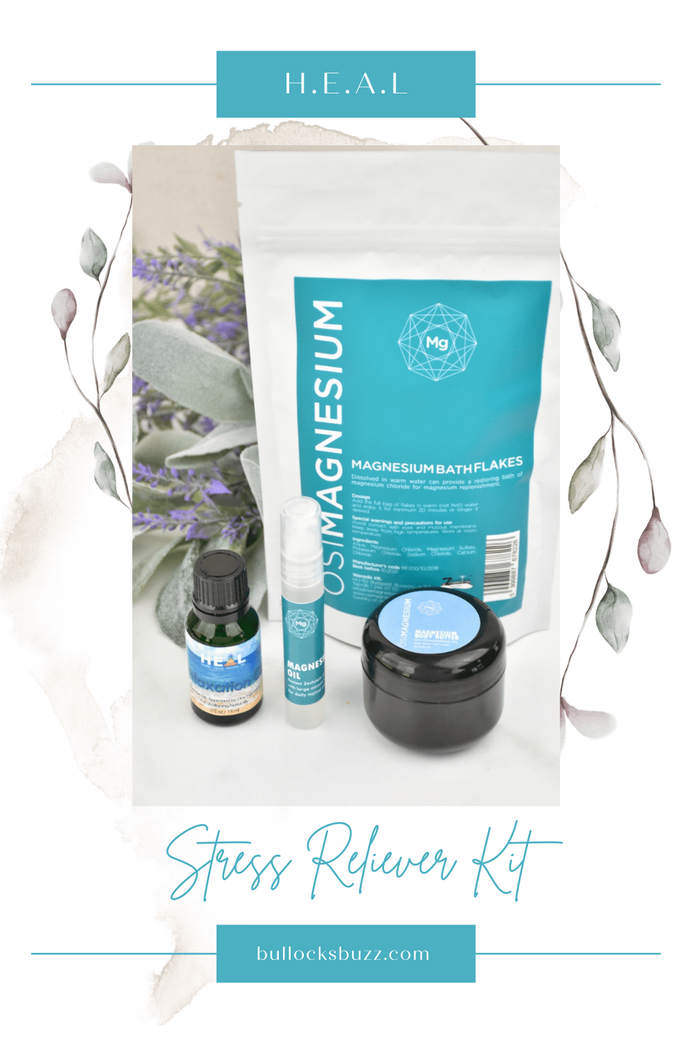 Take time to pamper yourself and nourish your body and soul with a luxurious gift set full of all-natural products, like this Stress Reliever Kit, from H.E.A.L.