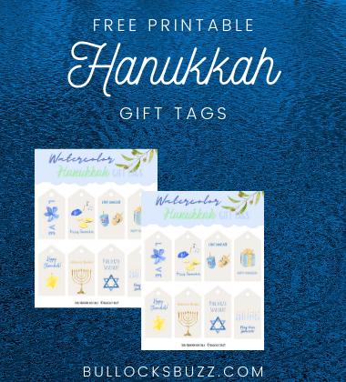 Hanukkah Printable Gift Tags