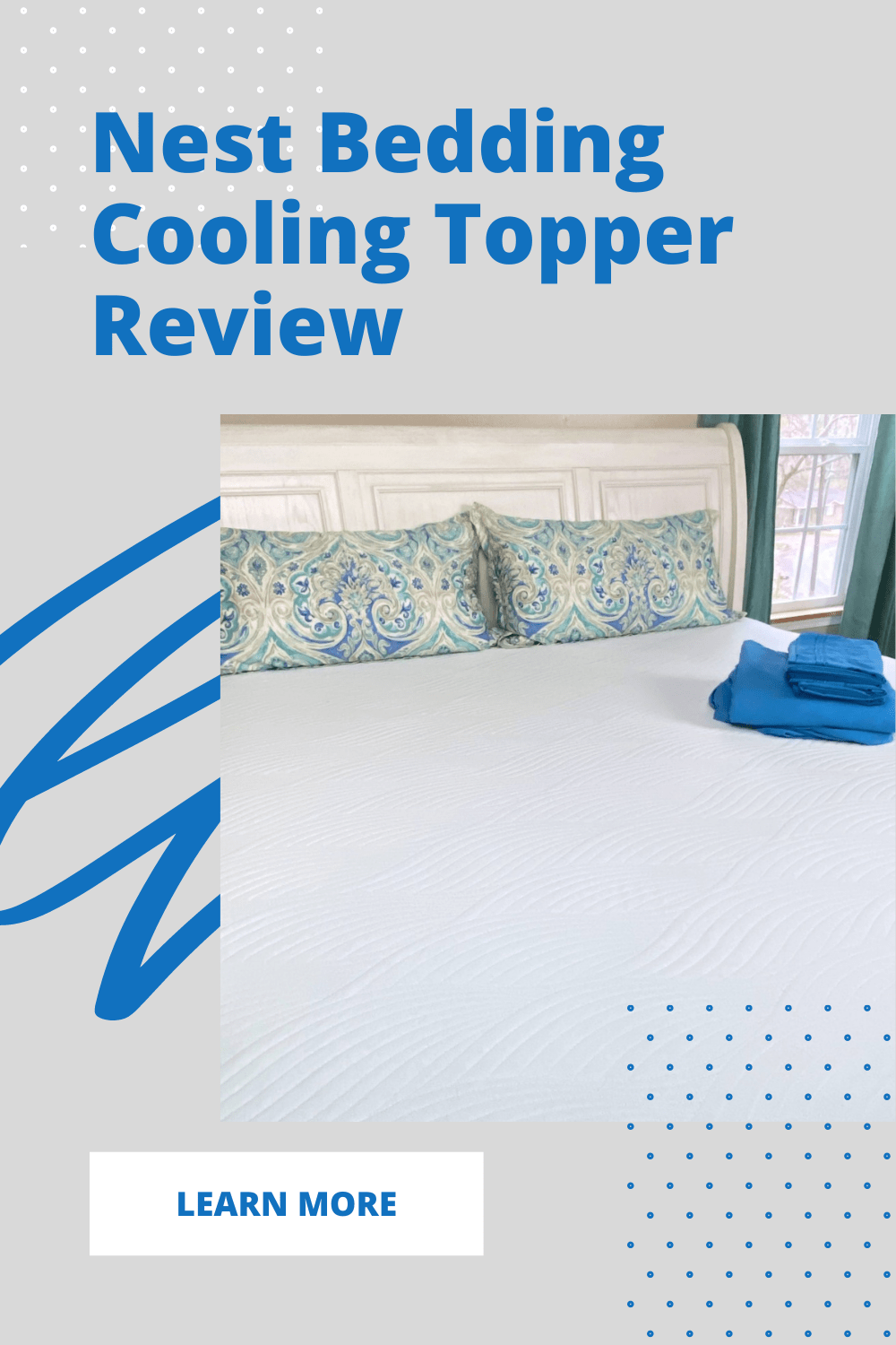 nest cooling topper on top of king mattress
