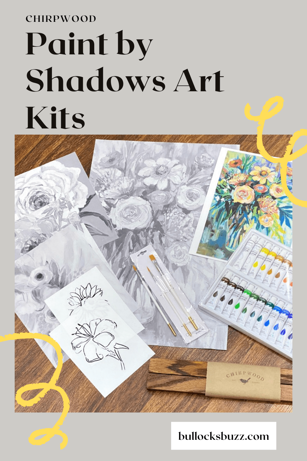 Painting by Shadows Art Kits from Chirpwood come with everything you need to paint gorgeous art.