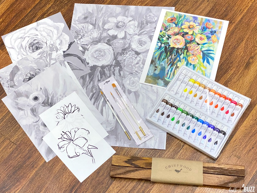 painting By Shadows Art Kit contents