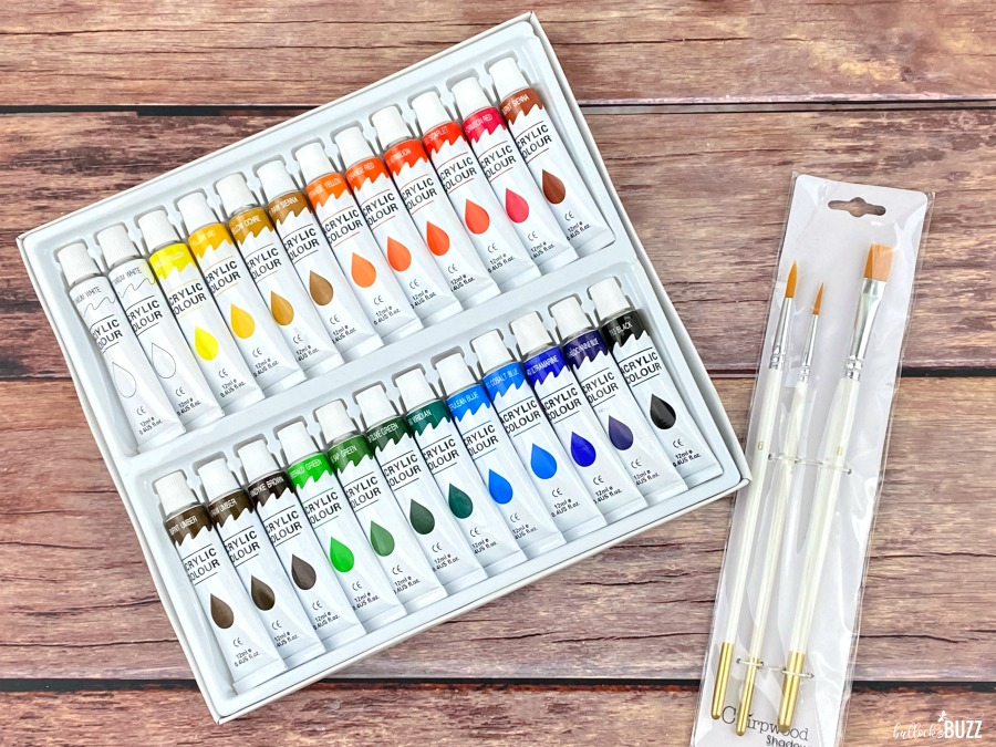 Paint by Shadows Art Kits paints and paint brushes included in kit