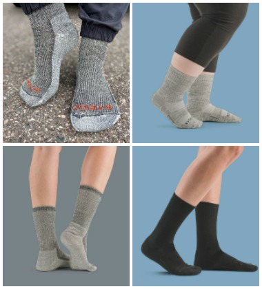 different styles of Stego socks