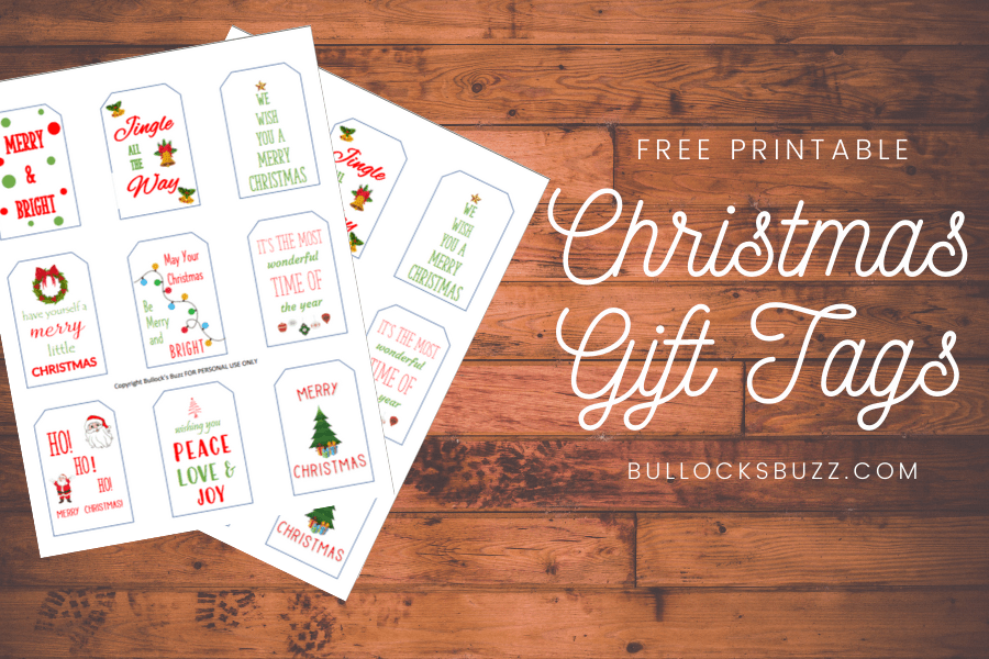 printable Christmas gift tags mockup