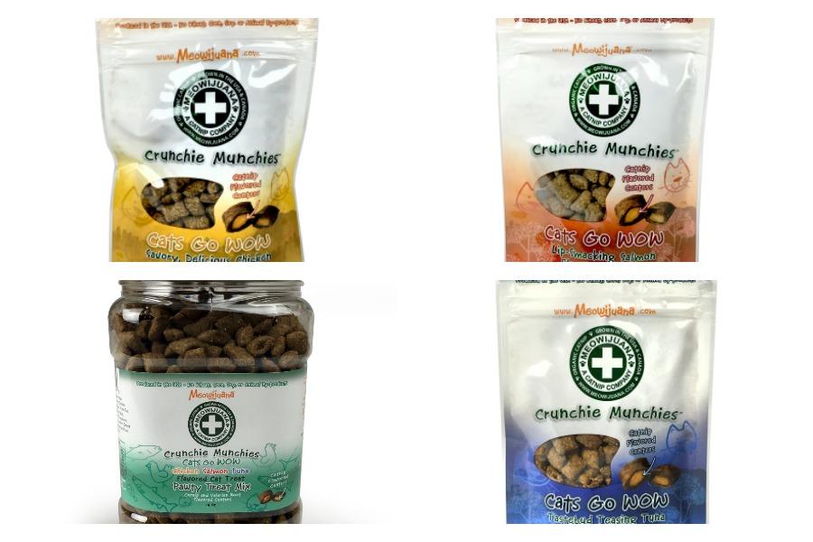 Cats will love these Marijuana Crunchie Munchies cat treats - the perfect pet gift ideas
