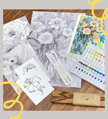 paint by shadows art kits from chirpwood