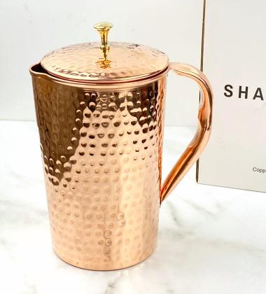 shantiva copper water pitcher