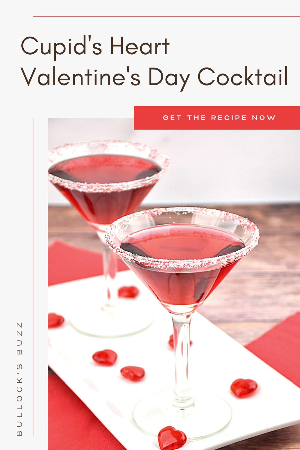 Whether you're looking for a Valentine's Day cocktail to share with your love, a Galentine's cocktail to share with your BFF, or even an anti-Valentines day cocktail to share with friends, this fruity Cupid's Heart Valentine's Day cocktail will have you falling in love!