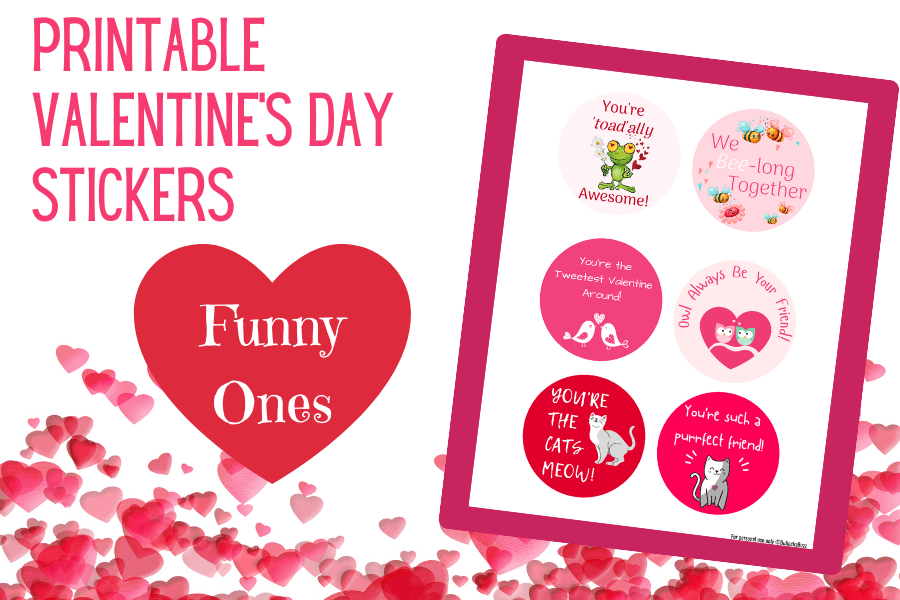 Funny printable Valentine's Day stickers