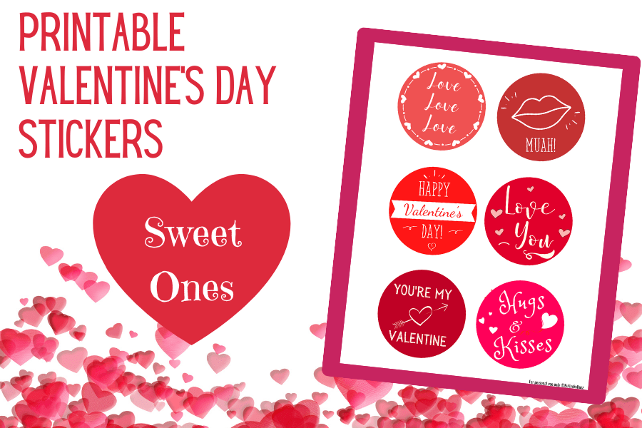 sweet printable stickers for Valentine's Day