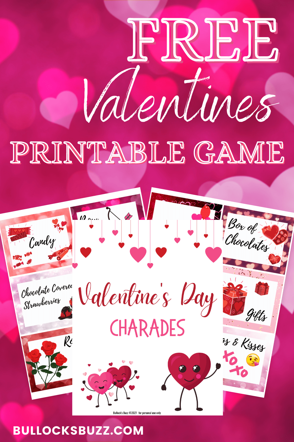 Valentine's Charades is a fun and easy game to play that's perfect for people of any age. All you need to play this Valentine's Charades printable game are these ready-made clues, your imagination, and the willingness to laugh and have some fun!