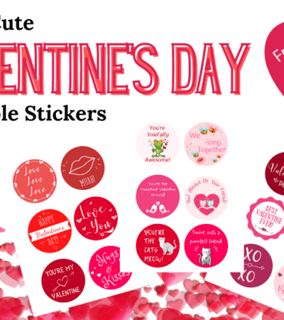 cute printable Valentine's Day stickers
