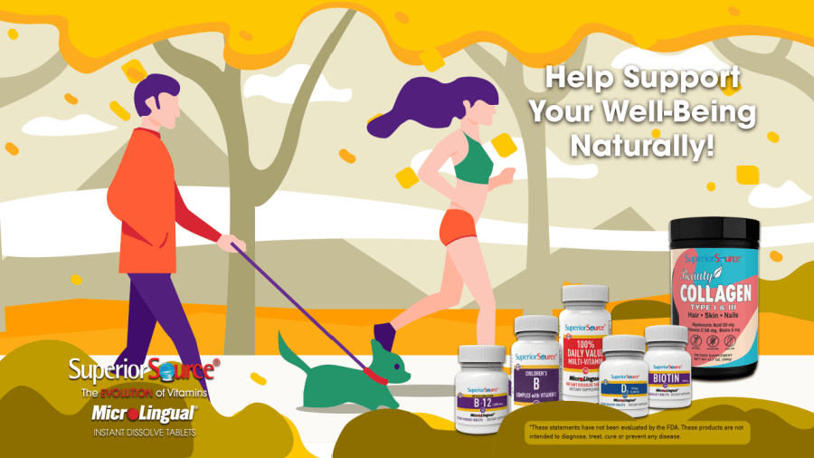 help support your well-being naturally with superior source vitamins