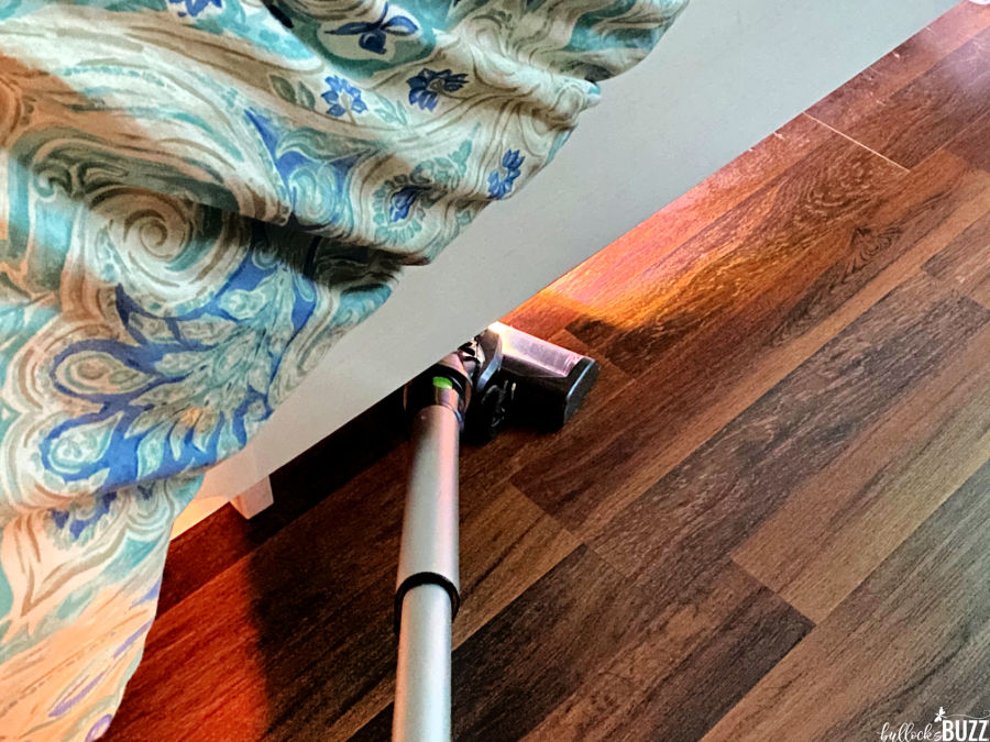 vacuum makes cleaning under furniture breeze