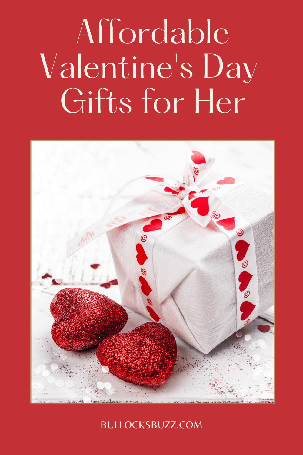 Skip the grocery store flowers, drugstore chocolates, and gift cards and give her one of these affordable Valentine's Day Gifts for her!