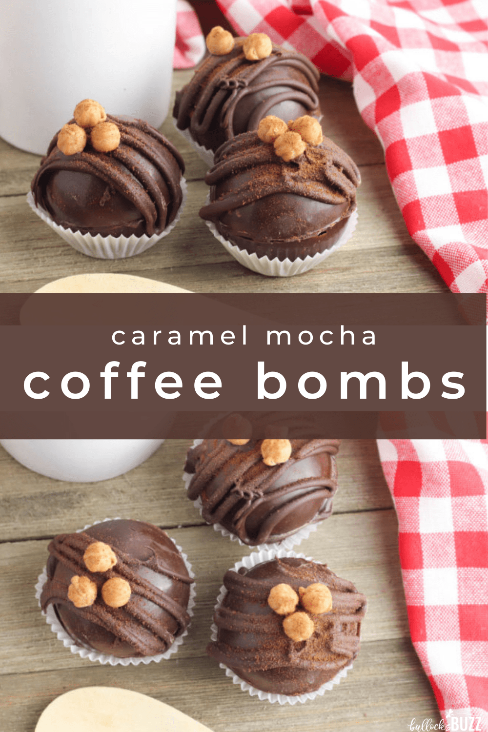 This Caramel Mocha Coffee Bomb recipe is the perfect combination of rich chocolate, flavorful espresso, and buttery caramel. Once these tasty little treats 'explode', you'll have the best cup of caramel mocha coffee ever! #coffeebomb #espressobomb #recipes #caramelmocha #coffee
