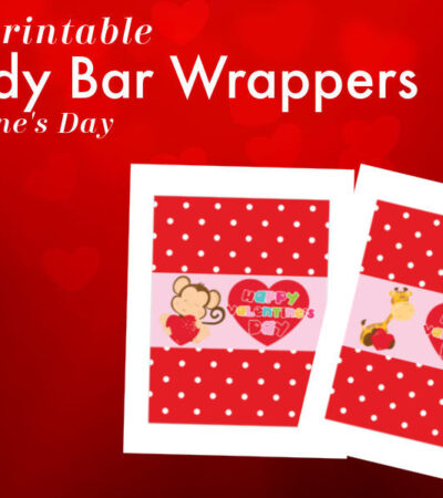 Printable Candy Bar Wrappers for Valentine's Day two designs