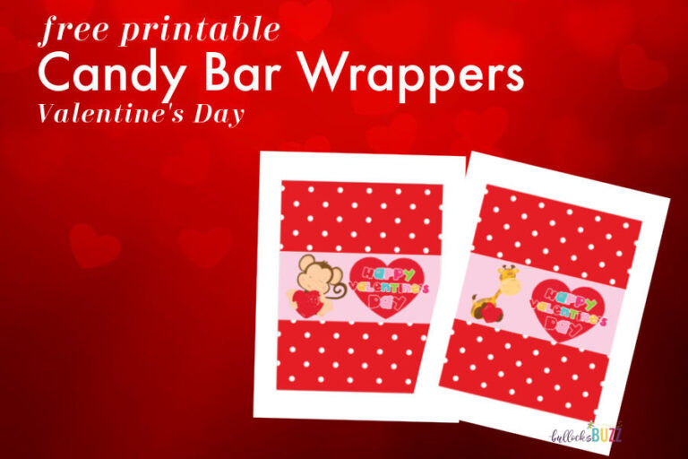 Printable Candy Bar Wrappers for Valentine's Day