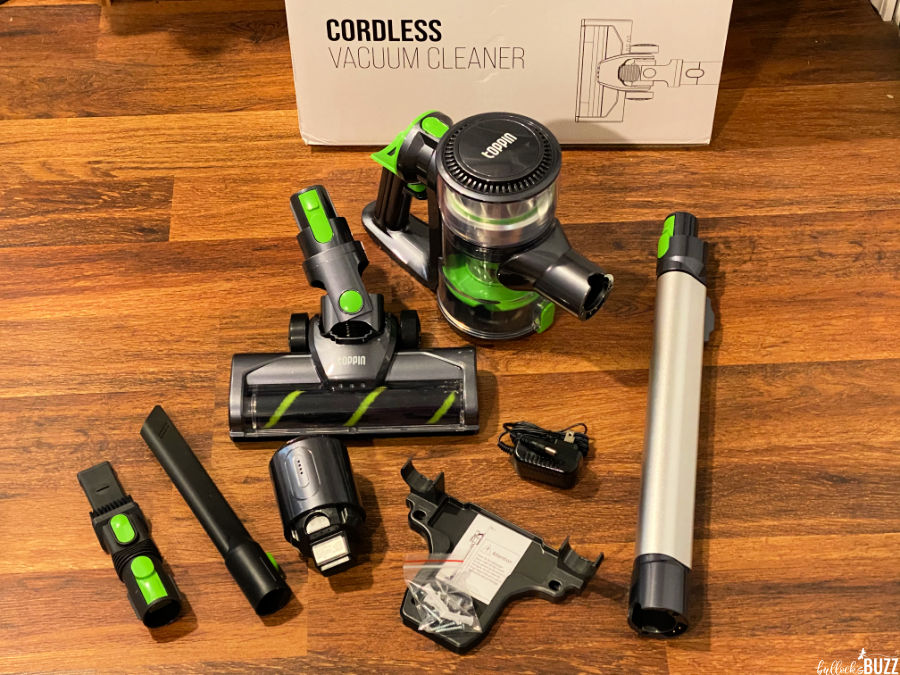 Toppin cordless vacuum unassembled right out of the box