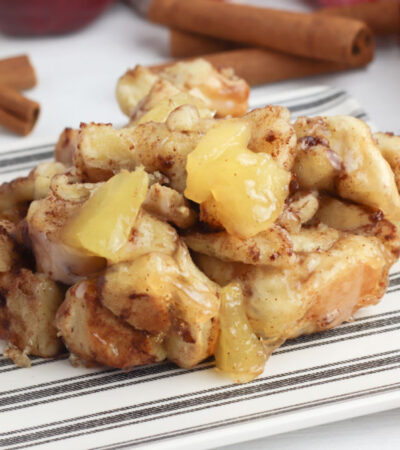 close up picture of Cinnamon Apple Monkey Bread
