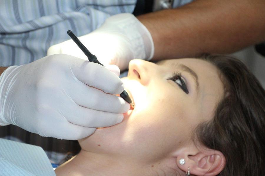 woman at dental visit