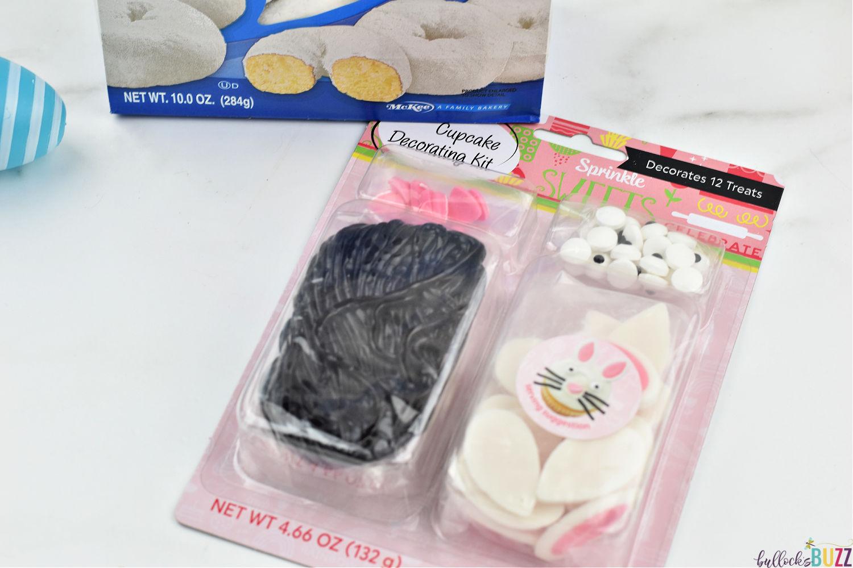 bunny cupcake decorating kit close up
