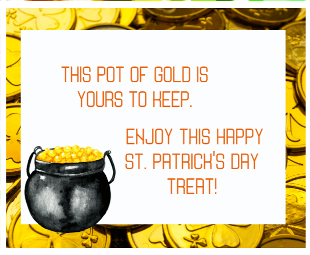final clue for St. Patrick's Day Treasure Hunt
