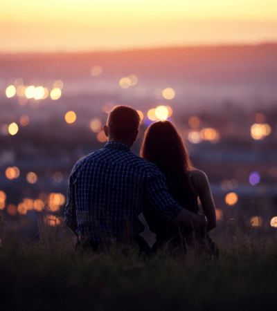 going to a city overlook at night is an Inexpensive Date Night Ideas