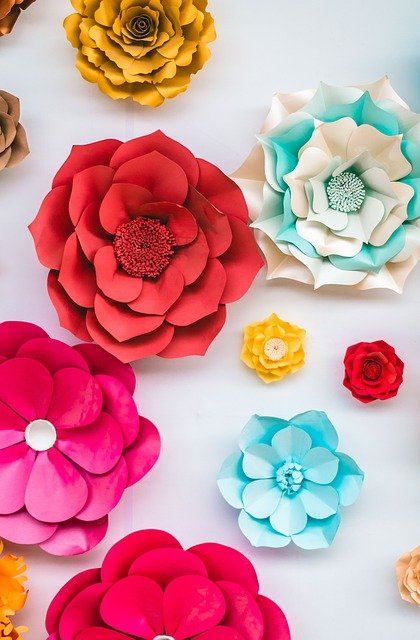paper flowers are another of our quick craft projects