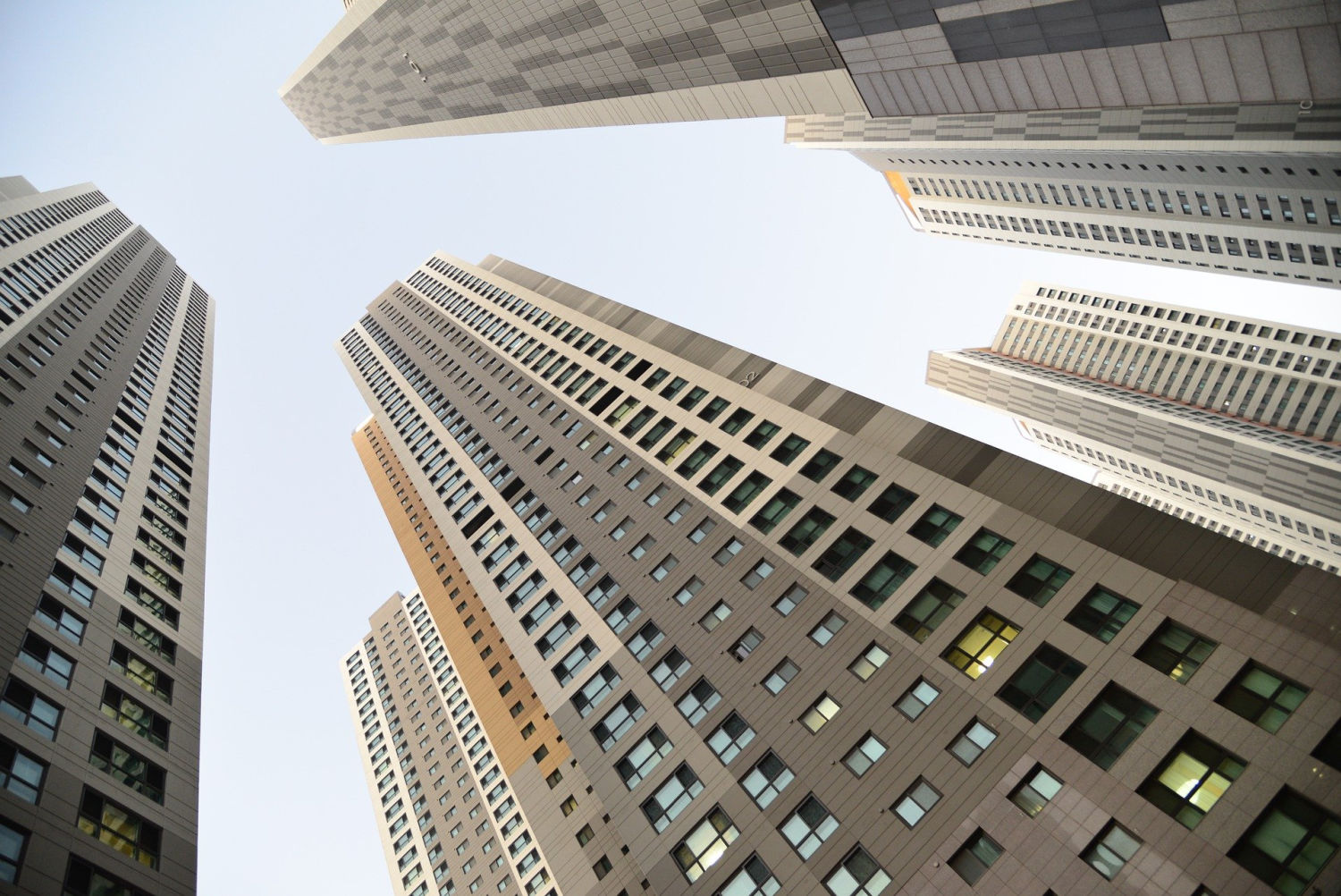 real estate in a big city like these buildings makes for a good real estate investment