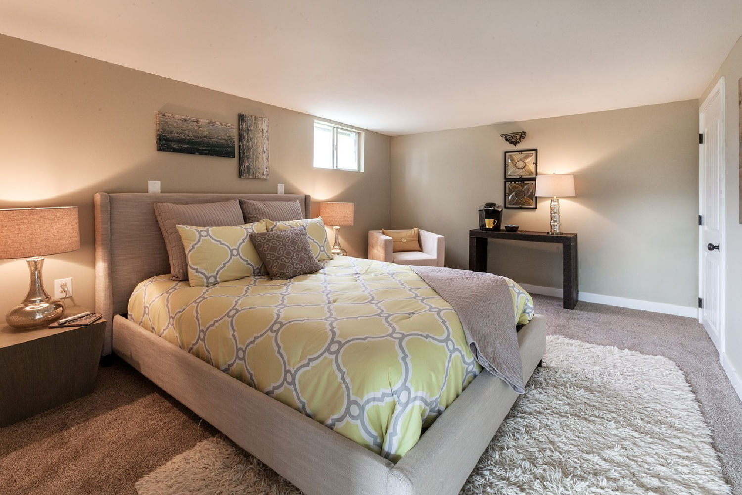 transform your basement into a bedroom like this one
