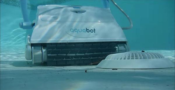 Aquabot Breeze IQ on pool bottom