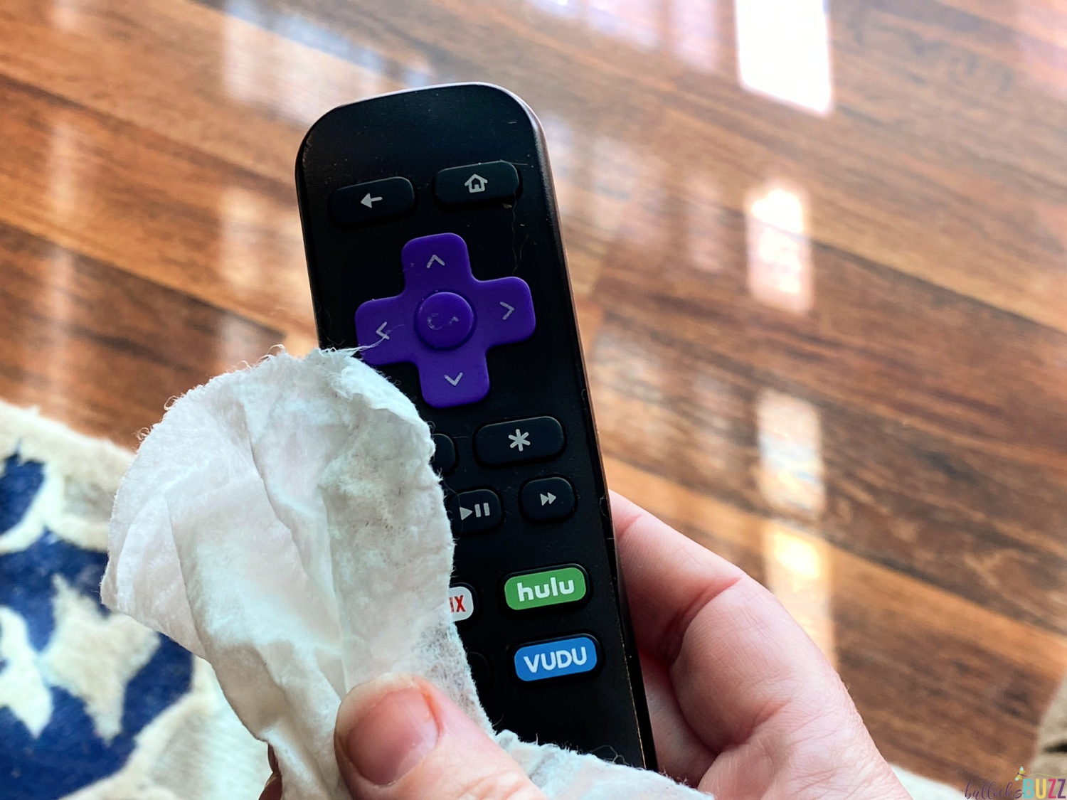 disinfecting wipes are safe to use on electronics like this remote